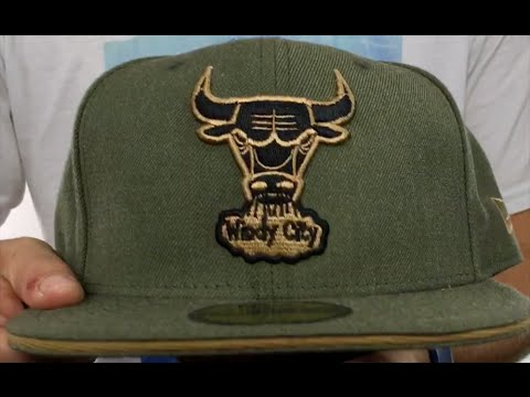 Bulls  HEATHER SLICE  Olive Fitted Hat by New Era - YouTube cb116adf0ca
