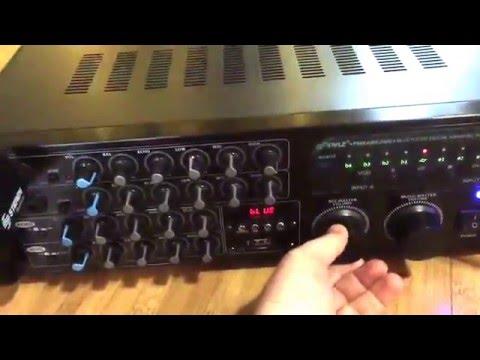 Pyle PMXAKB2000   2000 Watt DJ Karaoke Mixer and Amplifier Review, Good quality karaoke mixer and am