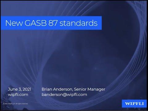 WCA Associate Member Wipfli Webinar: GASB 87: Lease Standards
