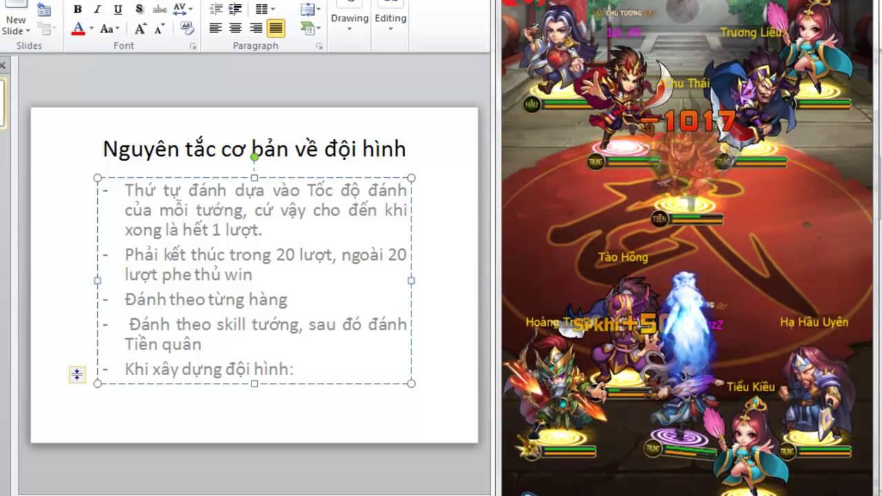 Ai La Vua Tam Quoc - Nguyen Tac Xay Dung Doi Hinh