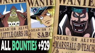 one piece highest bounties