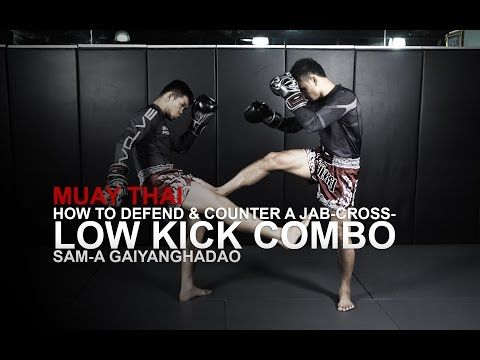 Muay Thai: 3 Low Kick Counterattacks | Evolve University
