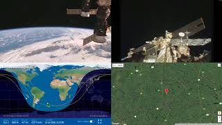 Passing Over South America - NASA/ESA ISS LIVE Space Station With Map - 30 - 2018-07-18