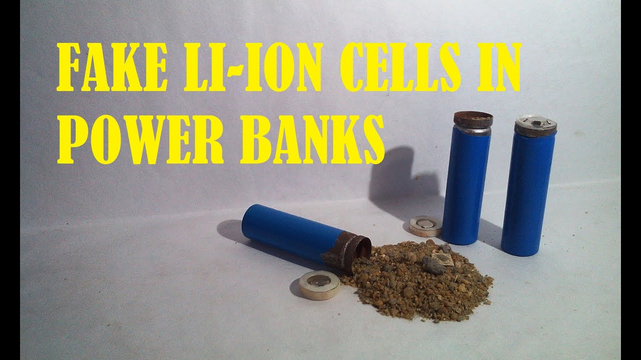 FAKE LI-ION CELLS IN A CHEAP POWER BANK - YouTube