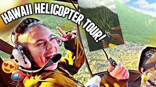 VACATION WITH ME! HAWAII HELICOPTER TOUR! (Aesthetically pleasing)🌅🌺🚁