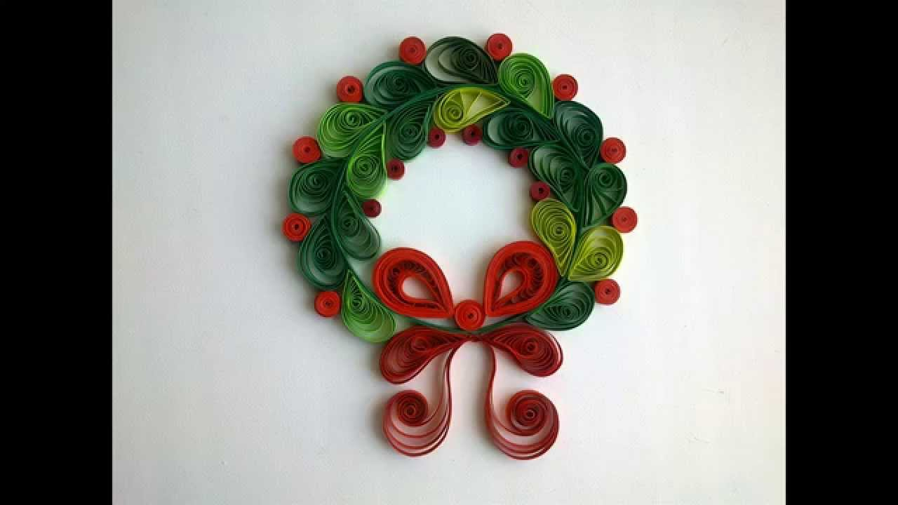 Paper quilling make hristmas quilling decorations youtube for Decoration quilling