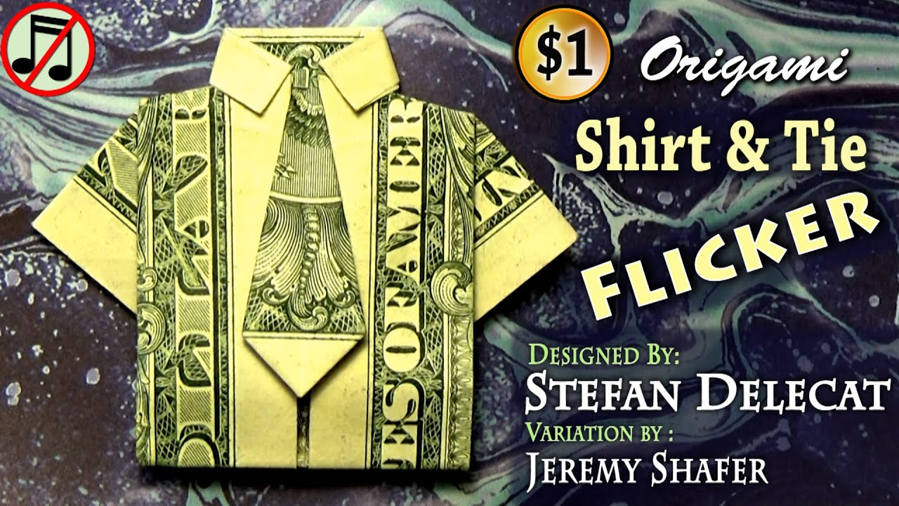 Fold Dollar Bill Shirt Tie - BCD Tofu House - photo#17