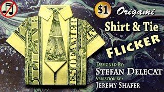 Origami Dollar Shirt & Tie Flicker