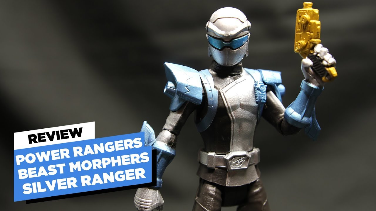 power rangers beast morphers silver ranger steel figure review youtube power rangers beast morphers silver ranger steel figure review