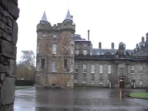 Holyrood Palace and forecourt Edinburgh Scotland