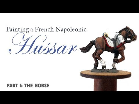 Painting a French Napoleonic Hussar - Part I, the horse