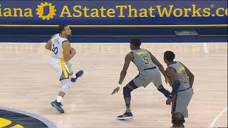 Stephen Curry's SHOCKING Step Back Shot Buzzer Beater From Deep! Warriors vs Pacers