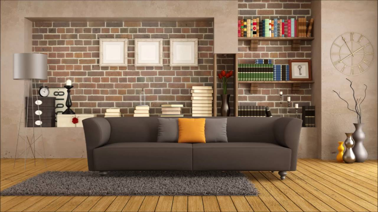 Living Room Background. Yellow Background Wall Wood Flooring For The Living Room  YouTube