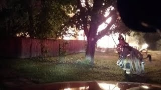 Newark Ohio Fire Department Fatal House Fire Dash Cam Video