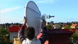 Montering av en Astra parabol 1988