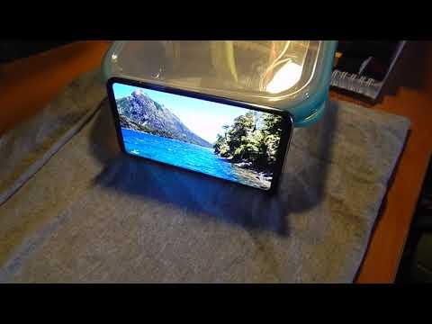 Видеосъёмка  экрана LG V30.