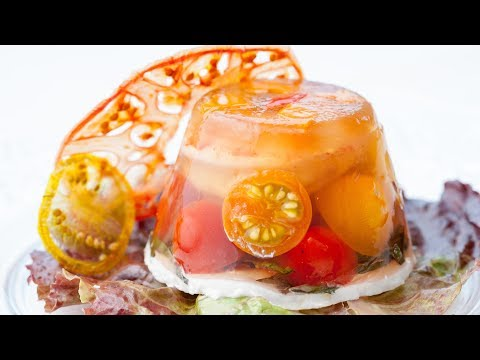 Shrimp tomato goat cheese aspic how to make aspic