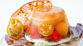 How To Make Aspic? Shrimp, Tomato, Basil Goat Cheese Aspic
