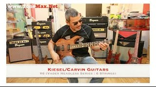 gears test drive kiesel carvin guitars v6 vader headless series