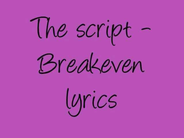 The Script -Breakeven lyrics Chords - Chordify