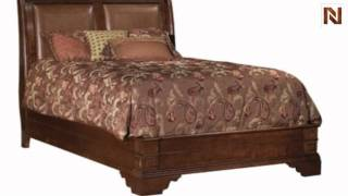 Kincaid 83-250p Keswick Sleigh Bed Queen 5/0 W/leather
