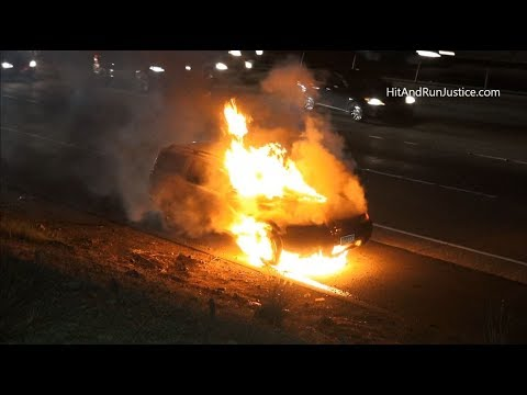 Car Fire WB 91fwy at Imperial Hwy