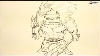 Drawing Tutorial For Beginners-How To Draw Cool Monsters-Orc