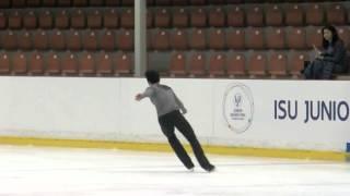 ISU 2015 Jr. Grand Prix Men Free Skate  Riga Armen AGAIAN GEO