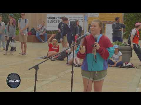 A Young Woman with a Bible Confronts Open Air Preacher