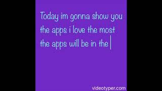 My fav apps