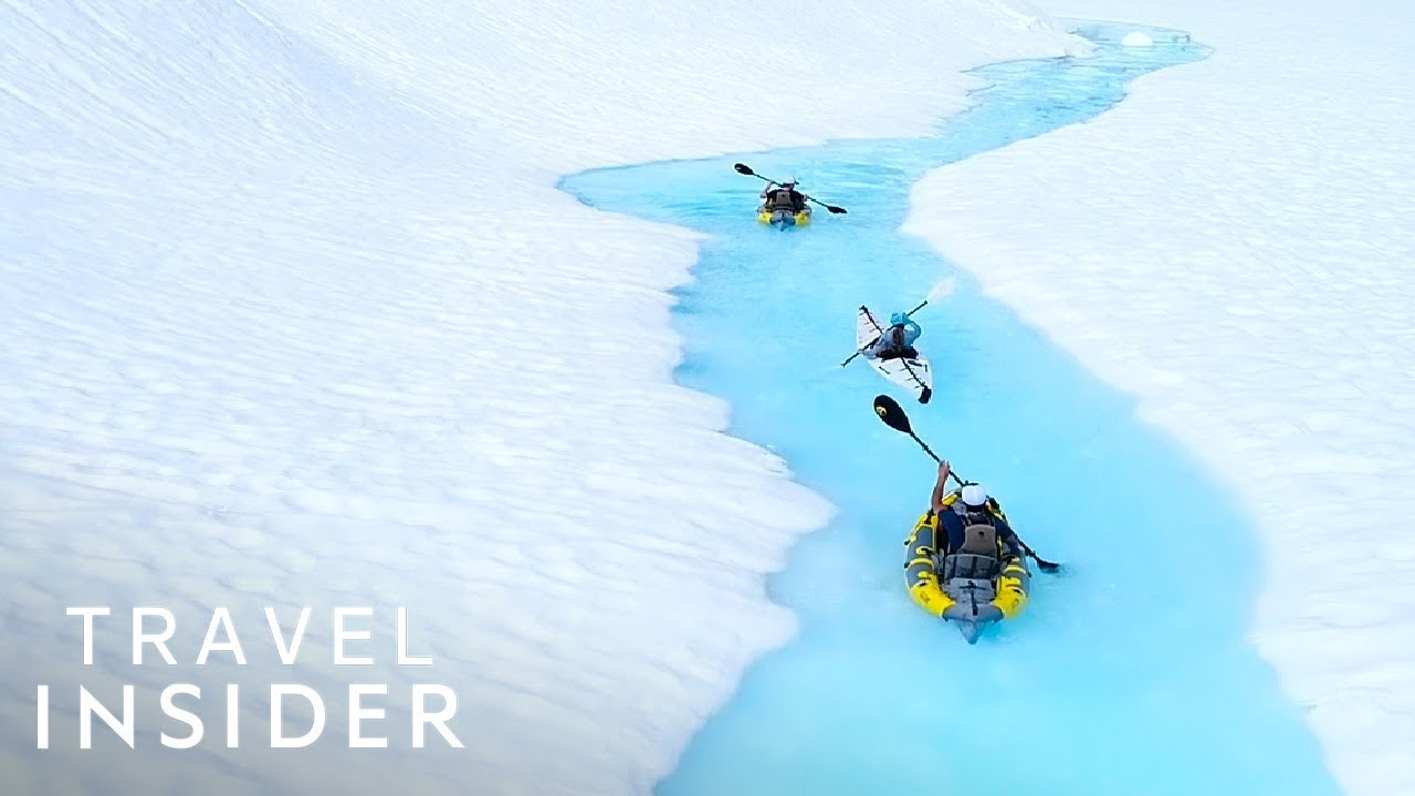 Kayak Through Canadian Glaciers