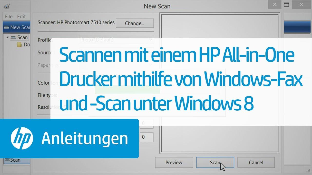 Scannen mit einem HP All-in-One Drucker mithilfe von Windows-Fax und ...