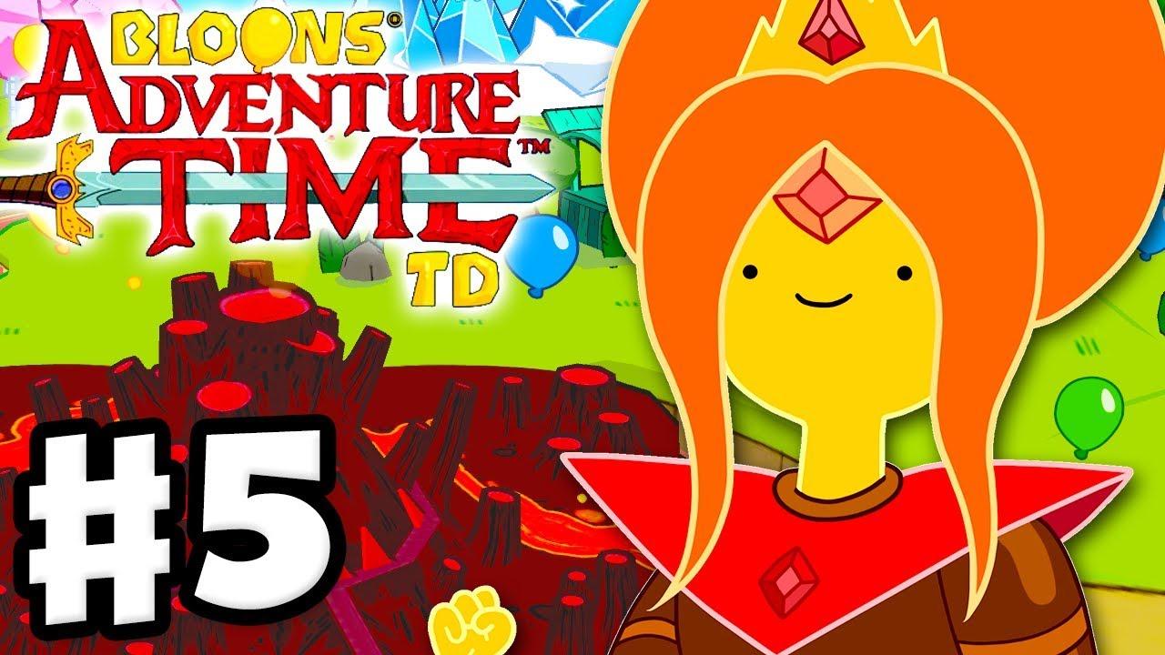 Adventure Time Princess Day bloons adventure time td - gameplay walkthrough part 5 - saving the flame  princess!