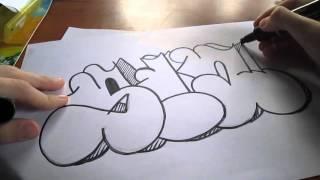 Простое граффити на бумаге#1