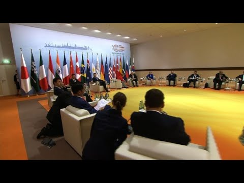 Leaders begin first working session of G20