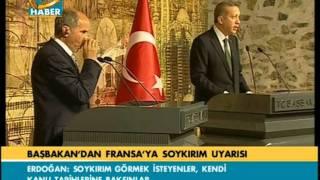 Basbakan Erdoğan Fransa'yı çok sert uyardı