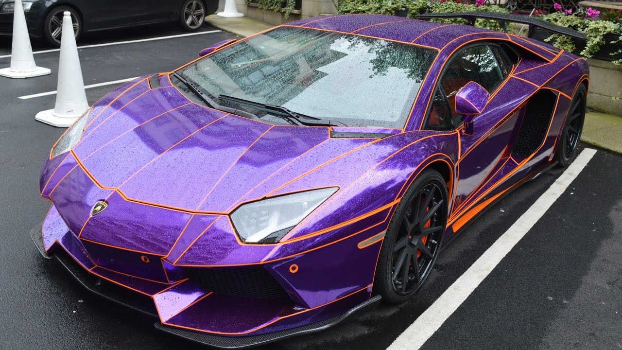 lamborghini aventador purple chrome tron aventador walkaround youtube. Black Bedroom Furniture Sets. Home Design Ideas