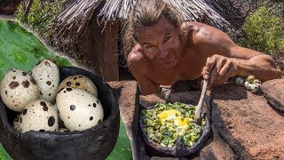 Primitive Kitchen: Quail Eggs & Cactus Breakfast
