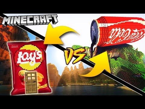 COCA COLA DOM VS LAYS DOM | GPLAY VS VITO MINECRAFT CHALLENGE!