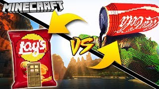 COCA COLA DOM VS LAYS DOM | GPLAY VS VITO MINECRAFT CHALLENGE!