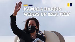 What has Kamala Harris achieved during her week-long trip to Southeast Asia?
