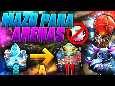 ¡¡EL MAZO DEFINITIVO PARA SUBIR DE ARENA 8 a ARENA 11 SIN LEGENDARIAS!! PEKKA y GLOBO - Clash Royale