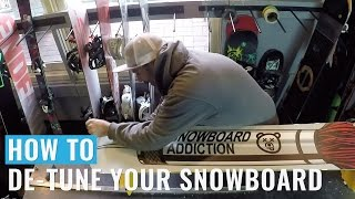 How to Detune Your Snowboard Ready For Winter