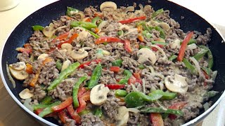 How to make Low Carb Philly Cheeseburger Skillet Dinner