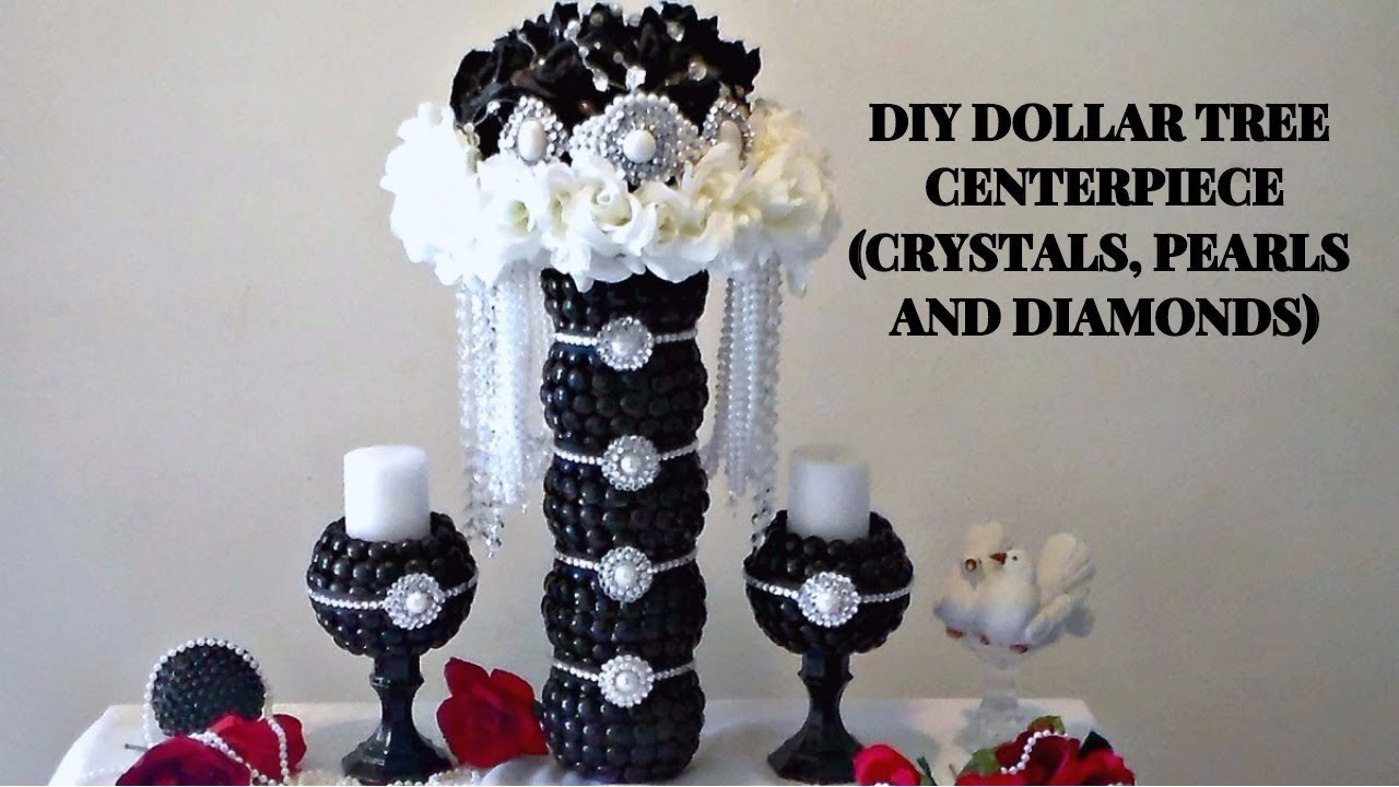 diy dollar tree glam crystals pearls and diamonds