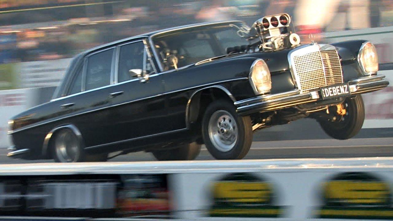 Wild Mercedes - Blown V8 powered - YouTube