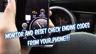 How to Reset Check Engine Light Codes and monitor car using your Smart Phone!
