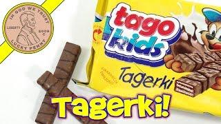 Tago Kids Tagerki Milk & Dark Chocolate Wafer Cookies - Polish Treats