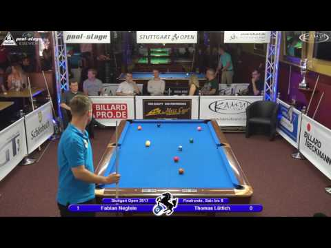 Stuttgart Open 2017, No. 23, Fabian Neglein vs. Thomas Lüttich, 10-Ball, Pool-Billard