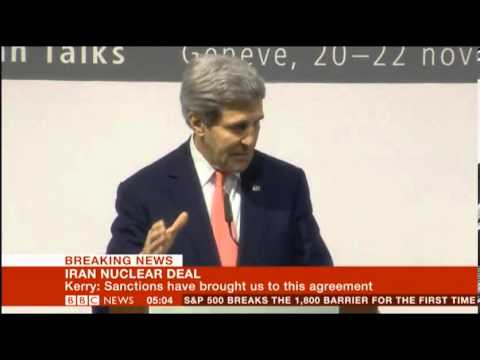 Iran Nuclear Deal 2013 US Foreign Secretary John Kerry comments